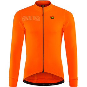 Alé Cycling Solid Color Block Fietsshirt lange mouwen Heren oranje